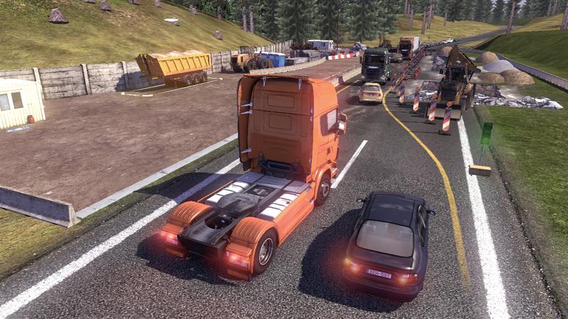 scania tds road 1 Scania Tır Simülasyonu   Yol Çalışması Ekran Görüntüleri