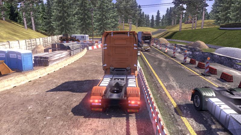 scania tds road 2 Scania Tır Simülasyonu   Yol Çalışması Ekran Görüntüleri