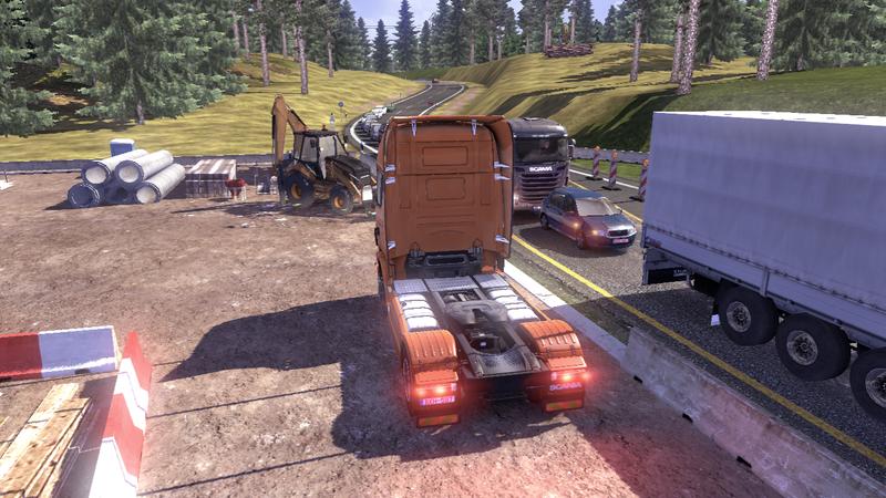 scania tds road 4 Scania Tır Simülasyonu   Yol Çalışması Ekran Görüntüleri