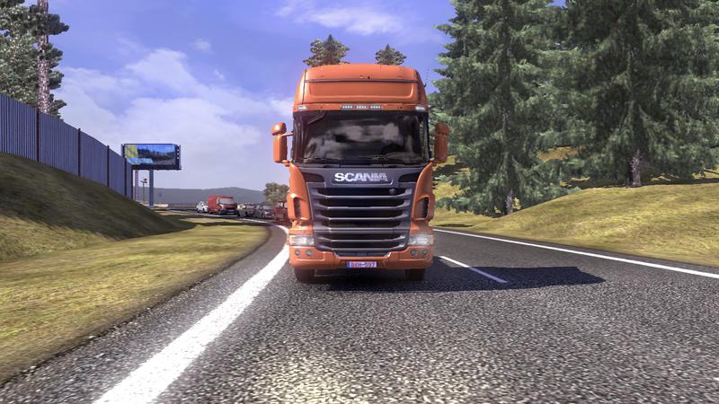 scania tds road 8 Scania Tır Simülasyonu   Yol Çalışması Ekran Görüntüleri