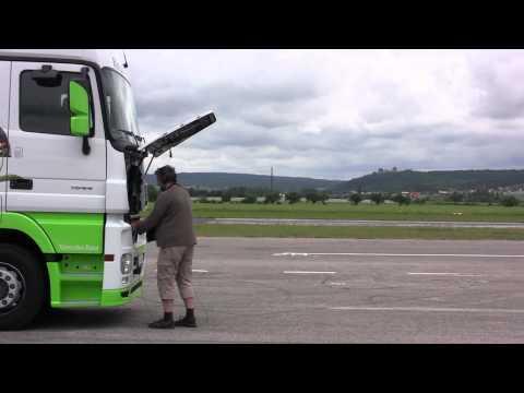 Euro Truck Simulator 2 Mercedes-Benz sessão de gravação de áudio