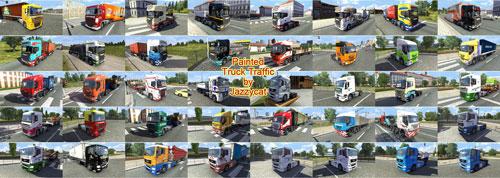 Мод Painted truck traffic v 1.1 для Euro Truck Simulator 2 - Грузовики для