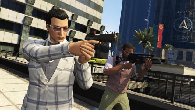 The Business güncellemesinin bir parçası olarak gelecek olan iki yeni silah, Heavy Pistol ve Special Carbine.