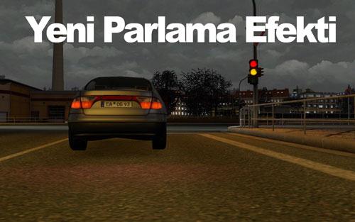 ETS 2 Mod – Oyun ışıkları ve Araç farları için Yeni Parlama Efekti