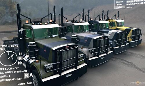 Peterbilt-379-&-Log-Trailler-Pack