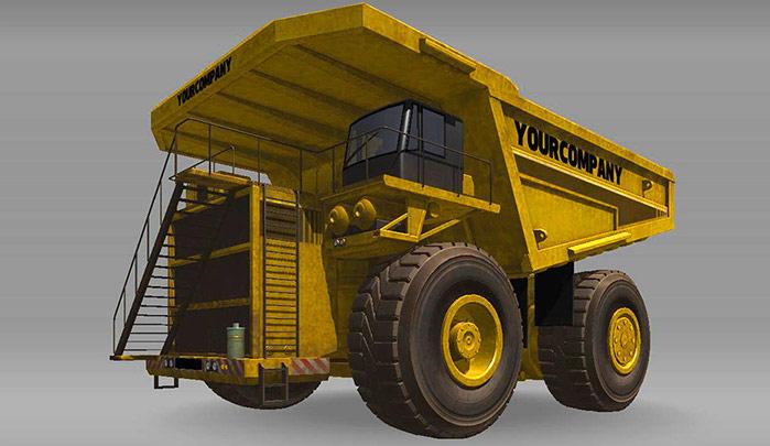 Dump Truck XL Ağırlık:235000 kg Güç:2710 HP Yakıt: 5340 Kapasite: 72