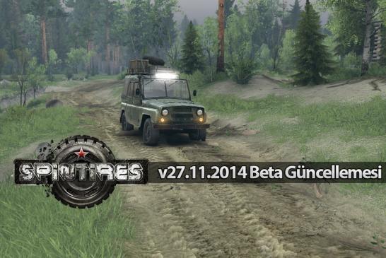 Spin Tires Beta v27.11.2014 Güncellemesi Yayınlandı