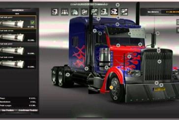 ETS 2 Peterbilt 389 Optimus Prime Paket