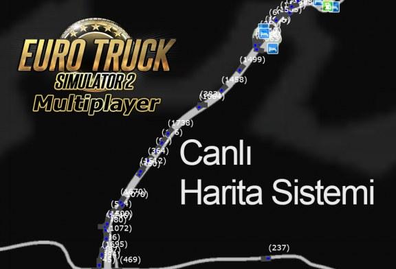Euro Truck Simulator 2 Multiplayer için Özel Canlı Harita Sistemi