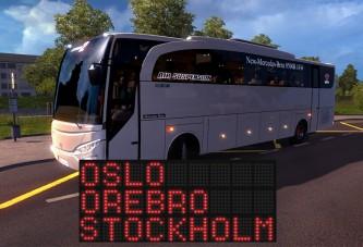 ETS 2 İskandinavya Örebro Otobüs Seferi [Logitech DFGT]