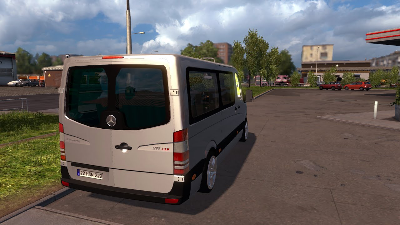 euro truck simulator 2 mercedes benz sprinter 211 modu. Black Bedroom Furniture Sets. Home Design Ideas