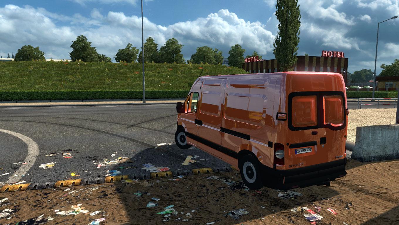 euro truck simulator 2 renault master furgon modu. Black Bedroom Furniture Sets. Home Design Ideas
