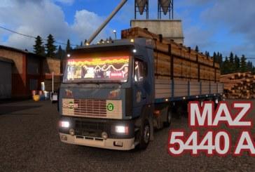 Euro Truck Simulator 2 MAZ 5440 A8 v1.2 (Video)
