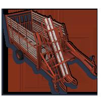 LIZARD eski model balya yükleme vagonu