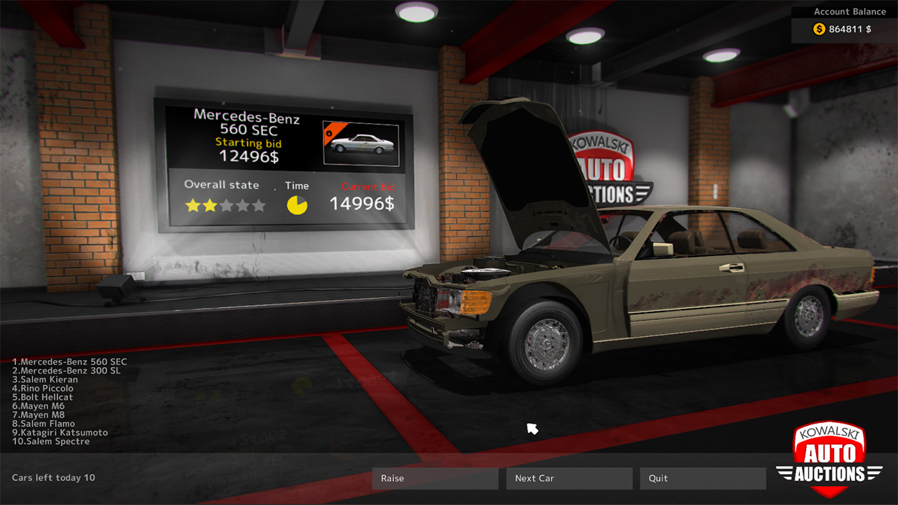 Car mechanic simulator 2015 mercedes benz steam 7 for Mercedes benz mechanic