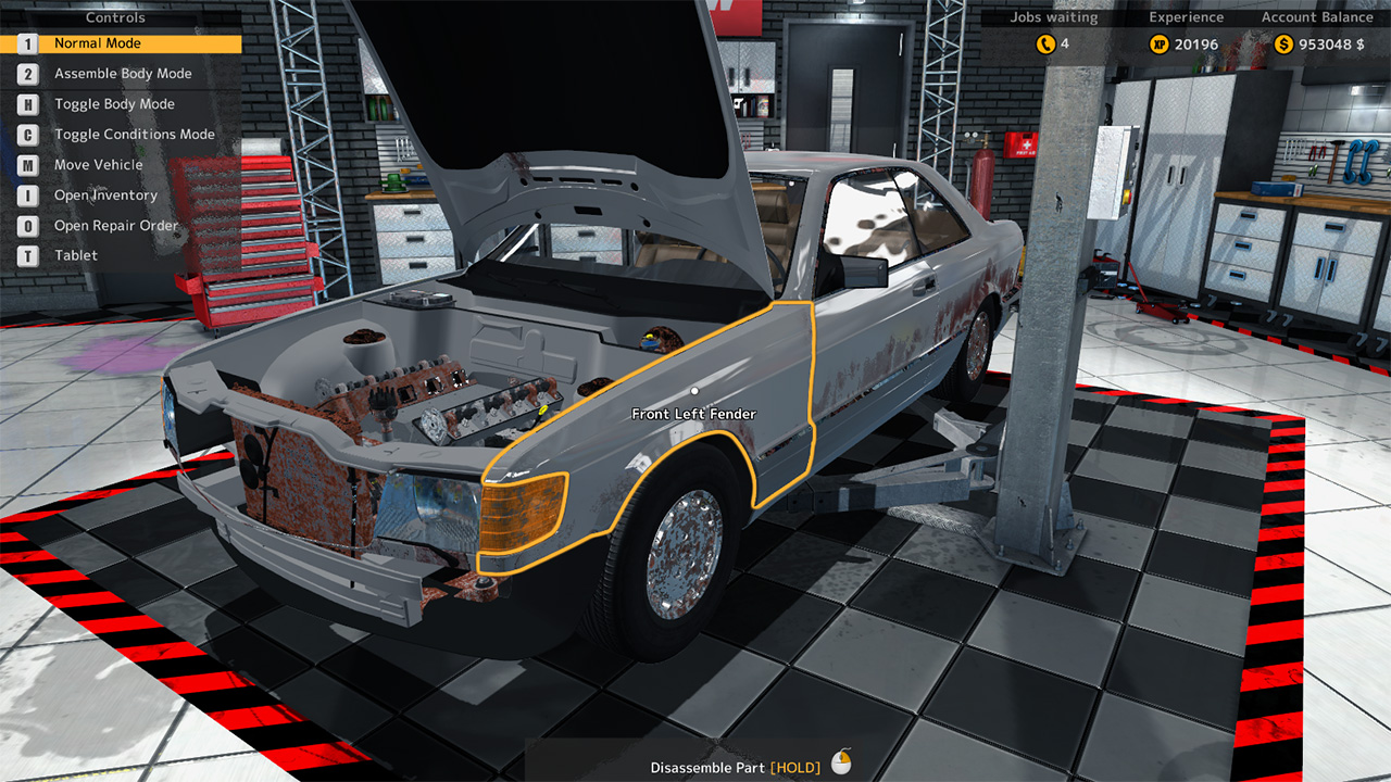Car mechanic simulator 2015 mercedes benz dlc 39 si kt for Car paint simulator
