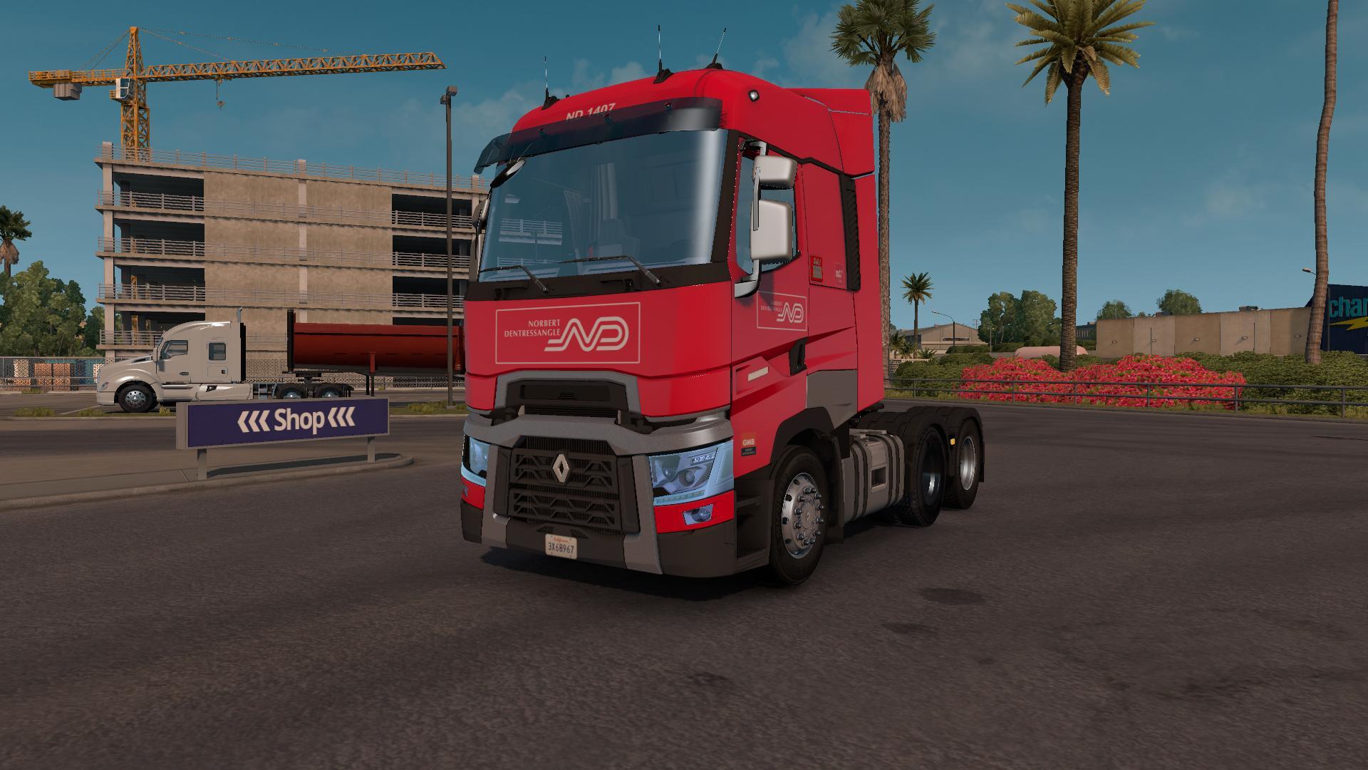 american truck simulator renault range t modu. Black Bedroom Furniture Sets. Home Design Ideas