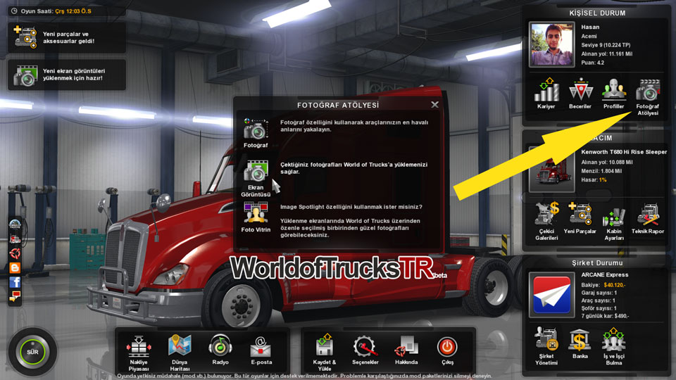 American Truck Simulator ve World of Trucks Profil ...