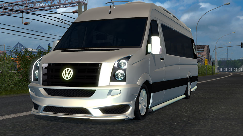 euro truck simulator 2 yenilenmi volkswagen crafter modu. Black Bedroom Furniture Sets. Home Design Ideas