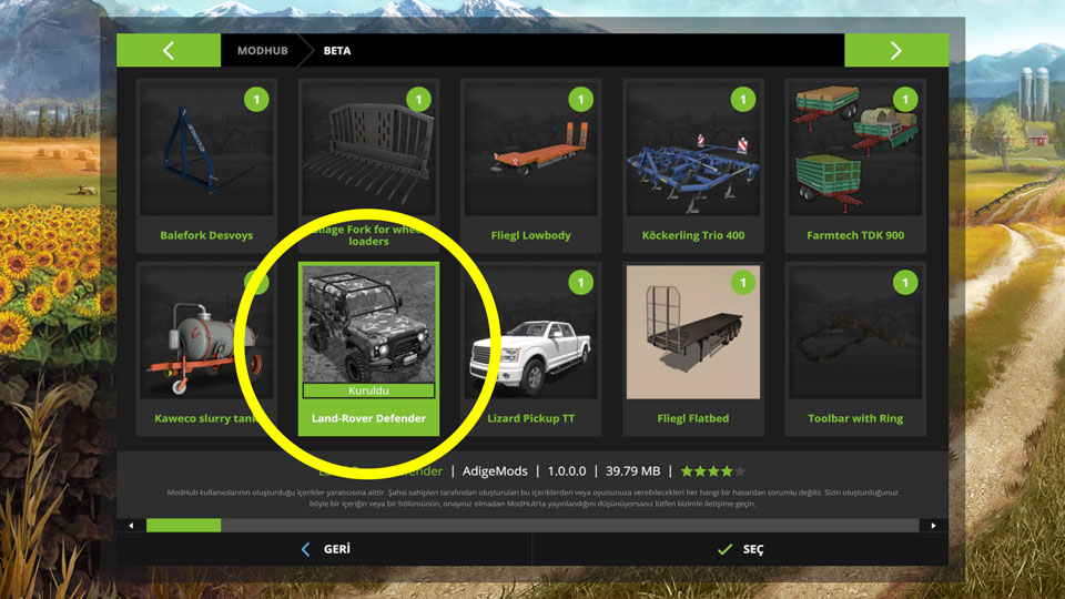 farming simulator 17 land rover defender modu. Black Bedroom Furniture Sets. Home Design Ideas