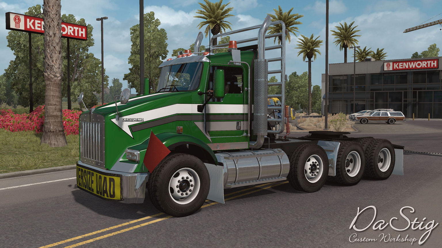 american truck simulator gtm kenworth t800 modu. Black Bedroom Furniture Sets. Home Design Ideas