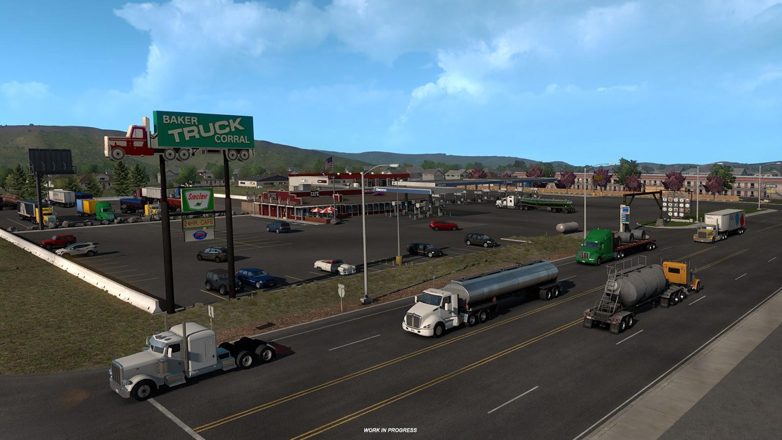 american truck simulator oregon dlc dinlenme alanlar. Black Bedroom Furniture Sets. Home Design Ideas