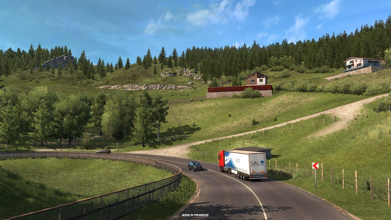 ETS 2'nin Black Sea DLC'sinden Romanya ekran görüntüleri